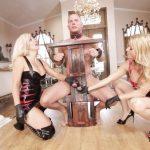 Image Dominare cu doua mature blonde si un sclav sexual care accepta orice