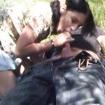 Image Cuplu de amatori se fut pe patura la iarba verde