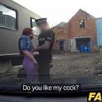 Image Soferita roscata face sex cu politist fals in depou parasit