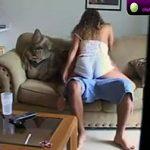 Image Cuplu filmati in propria casa cum fac sex pe canapea