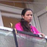 Image Tiganca sta pe balcon si primeste limbi in pizda