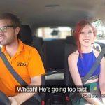 Image Roscata apetisanta face sex neprotejat in masina cu instructor auto