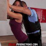 Image Interogata si violata de baiat rau imbracat in uniforma de politist