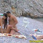 Image Sex in grup pe plaja de nudisti din Eforie