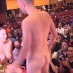 Image Pamela la petrecere face sex pe scena in club cu stripper viril