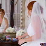 Image Imbracata in rochie de mireasa si-o trage brutal cu un nuntas