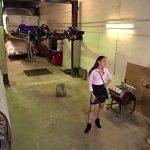 Image Alexandra nervoasa impacata in garaj cu multa pula