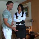 Image Sex la hotel cu menajera frumoasa care inghite sperma