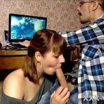 Image Gamer cu pula mare supt de iubita excitata