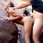 Image Cuplu pasionat de aventura fac sex pe munte