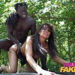 Image Taxi si sex la padure cu un negru