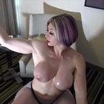 Image Milfa filmata in tatele goale cand se masturbeaza