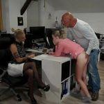 Image Lia si Kathi la interviu sug pula unui chelios matur